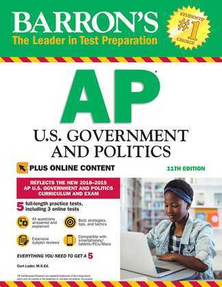 Barron's AP U.S. Government and Politics with Online Tests