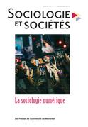Sociologie et sociétés. Vol. 49 No. 2, Automne 2017