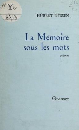 La mémoire sous les mots