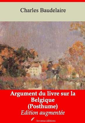 Argument du livre sur la Belgique (Posthume)   Edition intégrale et augmentée