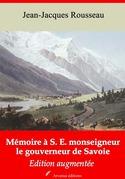 Mémoire à S. E. monseigneur le gouverneur de Savoie   Edition intégrale et augmentée
