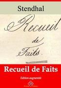 Recueil de faits | Edition intégrale et augmentée