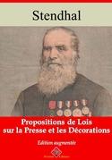 Propositions de lois sur la presse et les décorations | Edition intégrale et augmentée