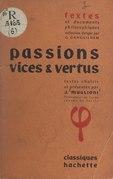 Passions, vices et vertus