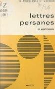 Lettres persanes, de Montesquieu