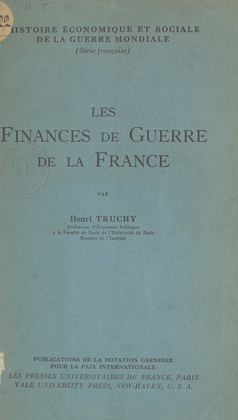 Les finances de guerre de la France