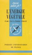 L'énergie végétale