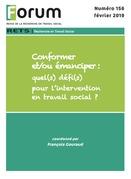 Forum 156 : Conformer et/ou émanciper?: quel(s) défi(s) pour l'intervention en travail social ?