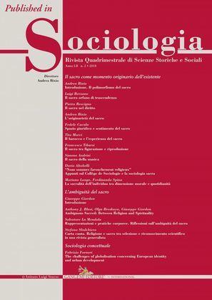 Carta canta. Religione e sacro tra selezione e riconoscimento scientifico in una rivista generalista