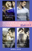 Modern Romance April 2019 Books  5-8: Spaniard's Baby of Revenge / Reunited by a Shock Pregnancy / The Sicilian's Secret Son / The Billionaire's Virgin Temptation