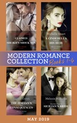 Modern Romance May 2019: Books 1-4: Claimed for the Sheikh's Shock Son (Secret Heirs of Billionaires) / A Cinderella to Secure His Heir / The Italian's Twin Consequences / Penniless Virgin to Sicilian's Bride
