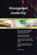 Management Leadership A Complete Guide - 2019 Edition