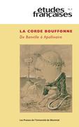 Études françaises. Vol. 51 No. 3,  2015