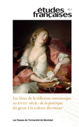 Études françaises. Vol. 49 No. 1,  2013