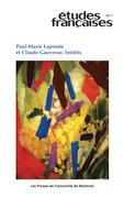 Études françaises. Vol. 48 No. 1,  2012