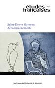 Études françaises. Vol. 48 No. 2,  2012