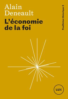 L'économie de la foi