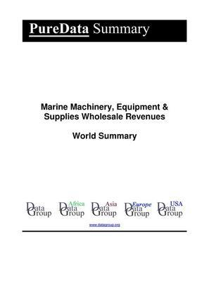 Marine Machinery, Equipment & Supplies Wholesale Revenues World Summary
