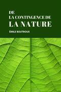 De la contingence des lois de la nature
