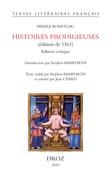 Histoires prodigieuses (édition de 1561). Edition critique