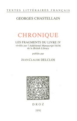 Chronique. Les fragments du Livre IV révélés par l'Additional Manuscript 54156 de la British Library