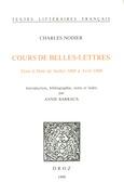 Cours de Belles-Lettres. Tenu à Dole de juillet 1808 à avril 1809