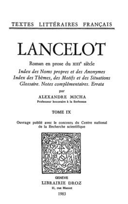 Lancelot : roman en prose du XIIIe siècle