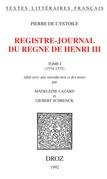 Registre-journal du règne de HenriIII