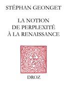 La Notion de perplexité à la Renaissance