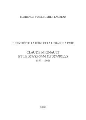 L'Université, la Robe et la librairie à Paris