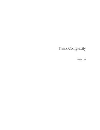 Think Complexity: Exploring Complexity Science with Python