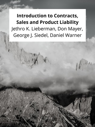 Introduction to Contracts, Sales and Product Liability