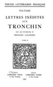 Lettres inédites aux Tronchin