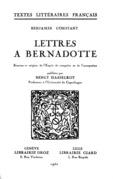 Lettres à Bernadotte