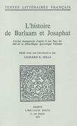 L'histoire de Barlaam et Josaphat