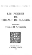 Les Poésies de Thibaut de Blaison
