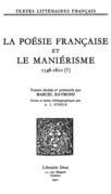 La Poésie française et le maniérisme