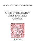 Poésie et méditation chez Jean de La Ceppède
