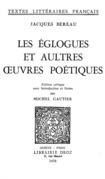 Les Eglogues et aultres œuvres poétiques