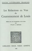 Les Rédactions en vers du Couronnement de Louis