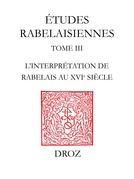 L'Interprétation de Rabelais au XVIesiècle