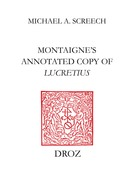 Montaigne's Annotated Copy of Lucretius