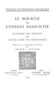 Le Miracle de l'Enfant ressuscité
