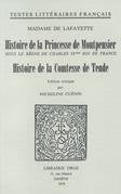 Histoire de la Princesse de Montpensier sous le règne de Charles IXe Roi de France