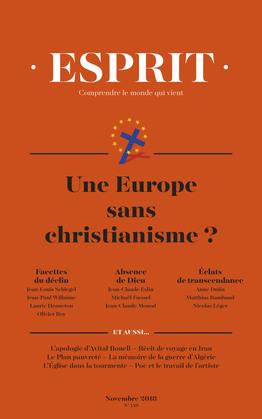 Esprit novembre 2018 Une Europe sans christianisme ?