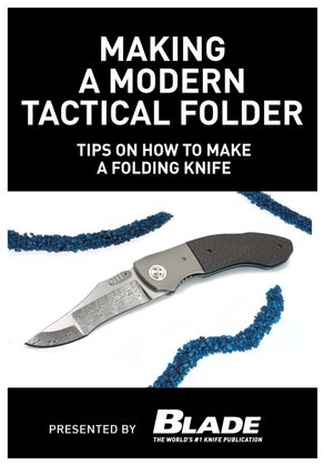 Making a Modern Tactical Folder: Tips on How to Make a Folding Knife: Learn how to make a folding knife with Allen Elishewitz. Knife making tips, supp