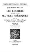 Les Regrets et autres œuvres poëtiques