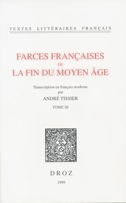 Farces françaises de la fin du Moyen Age