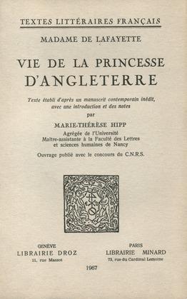 Vie de la princesse d'Angleterre