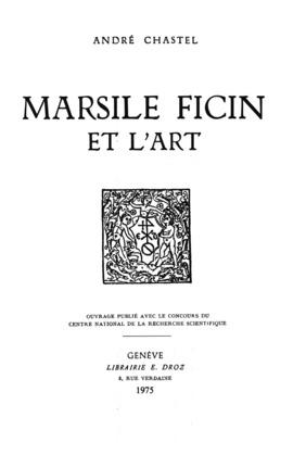 Marsile Ficin et l'art